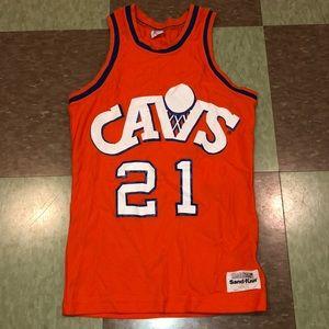 80s Cleveland Cavs jersey yth md 21 world b free